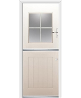 Ultimate Stable View Rockdoor in Cream with White Georgian Bar