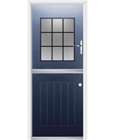 Ultimate Stable View Rockdoor in Sapphire Blue with Square Lead