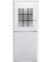 Ultimate Stable View Rockdoor in White with Square Lead