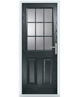 The Kettering Composite Door in Grey (Anthracite) with Glazing