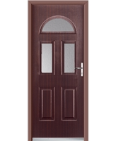 Ultimate Tennessee Rockdoor in Mahogany with Clear Glazing