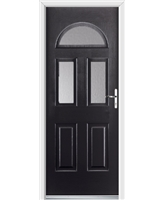 Ultimate Tennessee Rockdoor in Onyx Black with Clear Glazing