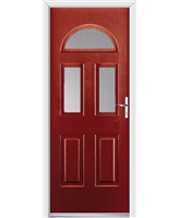 Ultimate Tennessee Rockdoor in Ruby Red with Clear Glazing