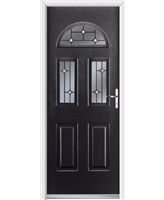 Ultimate Tennessee Rockdoor in Onyx Black with Crystal Bevel