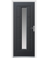 Ultimate Vermont Rockdoor in Anthracite Grey with Clear Glazing