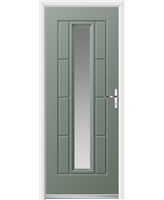 Ultimate Vermont Rockdoor in Chartwell Green with Clear Glazing