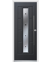 Ultimate Vermont Rockdoor in Anthracite Grey with Quadra and Bar Handle