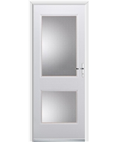 Ultimate Virginia Rockdoor in White with Clear Glazing
