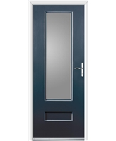 Ultimate Vogue Rockdoor in Anthracite Grey with Clear Glazing