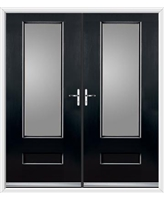 Vogue French Rockdoor in Onyx Black with Clear Glazing