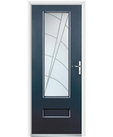 Ultimate Vogue Rockdoor in Anthracite Grey with Ocean Glazing