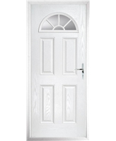 The Jamestown Composite Door in White with Clear Glazing