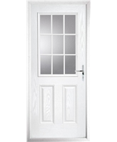 The Kettering Composite Door in White with Clear Glazing