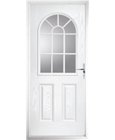 The Leeds Composite Door in White with Glazing