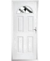 The Derby Composite Door in White with Black Diamonds