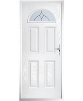 The Derby Composite Door in White with Classic Glazing