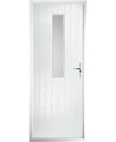 The Sheffield Composite Door in White with Clear Glazing