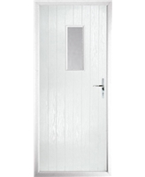 The Taunton Composite Door in White with Clear Glazing