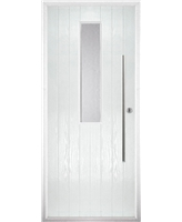 The York Composite Door in White with Glazing