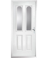 The Aberdeen Composite Door in White with Clear Glazing