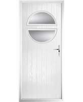 The Queensbury Composite Door in White with Clear Glazing