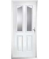 The Birmingham Composite Door in White with Clear Glazing