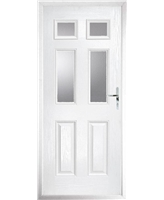The Oxford Composite Door in White with Clear Glazing