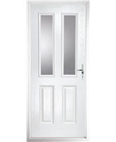 The Cardiff Composite Door in White with Clear Glazing