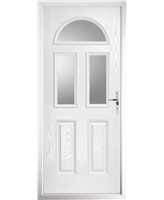 The Glasgow Composite Door in White with Clear Glazing