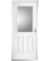 The Farnborough Composite Door in White with Clear Glazing
