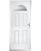 The Derby Composite Door in White with Clear Glazing