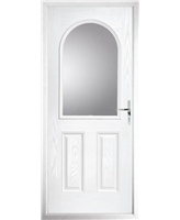 The Edinburgh Composite Door in White with Clear Glazing