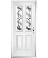 The Aberdeen Composite Door in White with Crystal Bohemia
