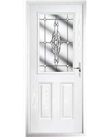 The Farnborough Composite Door in White with Clear Crystal Bohemia