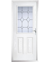 The Farnborough Composite Door in White with Crystal Diamond