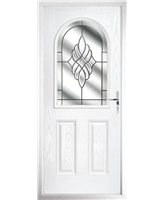 The Edinburgh Composite Door in White with Crystal Eternity