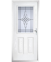 The Farnborough Composite Door in White with Crystal Harmony Frost