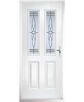 The Cardiff Composite Door in White with Crystal Harmony Frost
