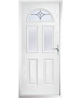 The Glasgow Composite Door in White with Crystal Tulip Arch