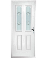 The Aberdeen Composite Door in White with Classic Glazing