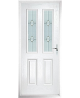 The Cardiff Composite Door in White with Classic Glazing