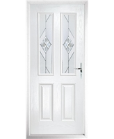 The Cardiff Composite Door in White with Eclipse Glazing