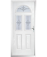 The Glasgow Composite Door in White with Finesse Glazing