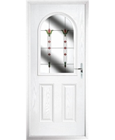 The Edinburgh Composite Door in White with Fleur
