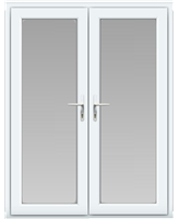 uPVC French Door in White