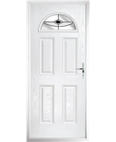 The Derby Composite Door in White with Black Fusion Ellipse