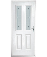 The Cardiff Composite Door in White with Jewel Glazing