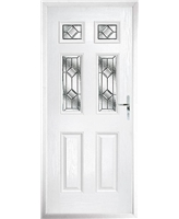 The Oxford Composite Door in White with Simplicity