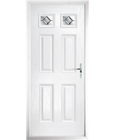 The Ipswich Composite Door in White with Simplicity