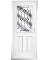 The Farnborough Composite Door in White with Simplicity